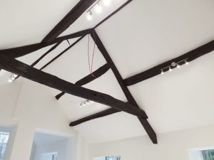 Insulating Pitched Roof with SuperQuilt, leaving beams exposed